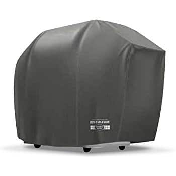 "Budge Rust-Oleum Heat Resistant Waterproof BBQ Grill Cover Fits Grills 70"" Wide, Black $4 ac @Amazon"