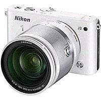 BuyDig Deal: Nikon 1 J3 Digital Camera w/ 10-100mm Lens WHITE $299 Refurbished + Free Shipping