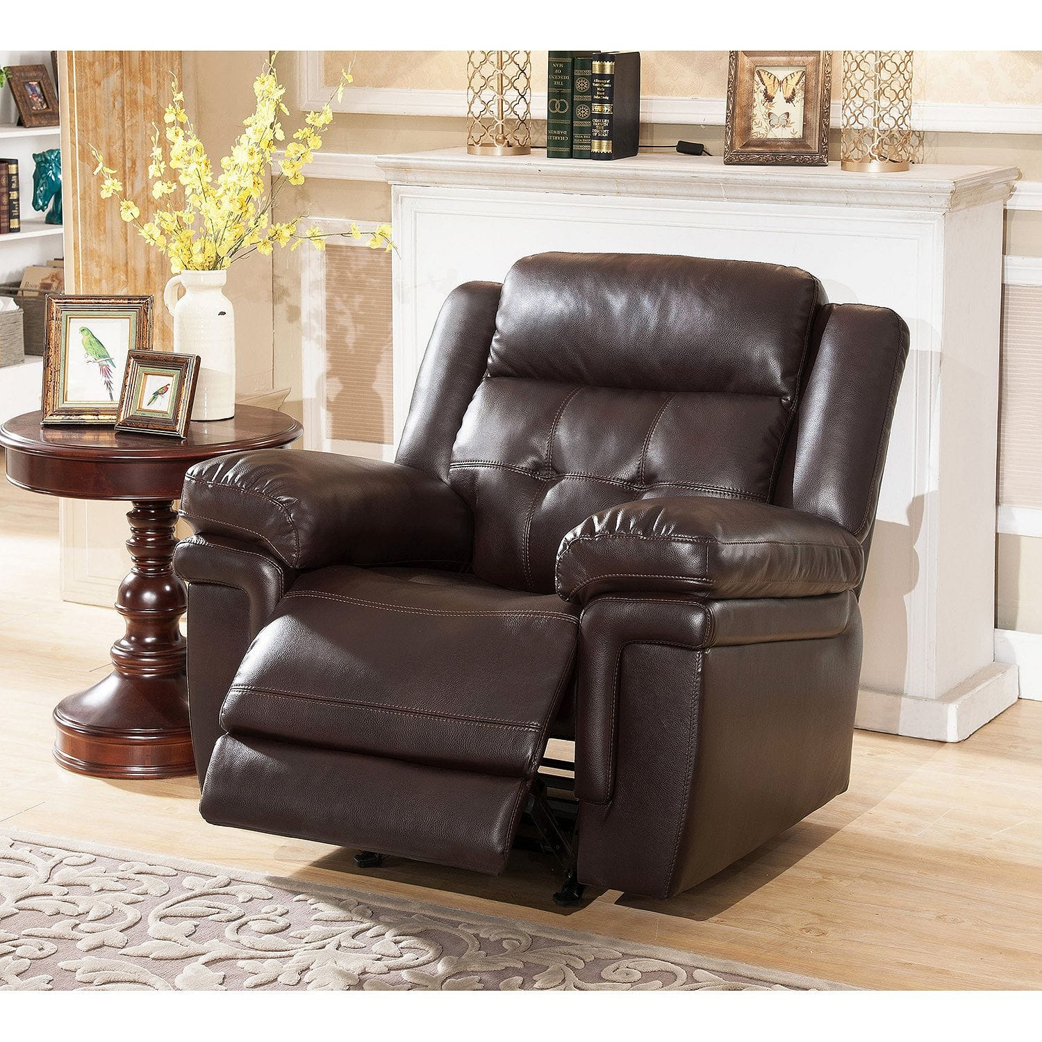 Abbyson Living Clarence Rocker Recliner in Brown - $299.00 Shipped Free