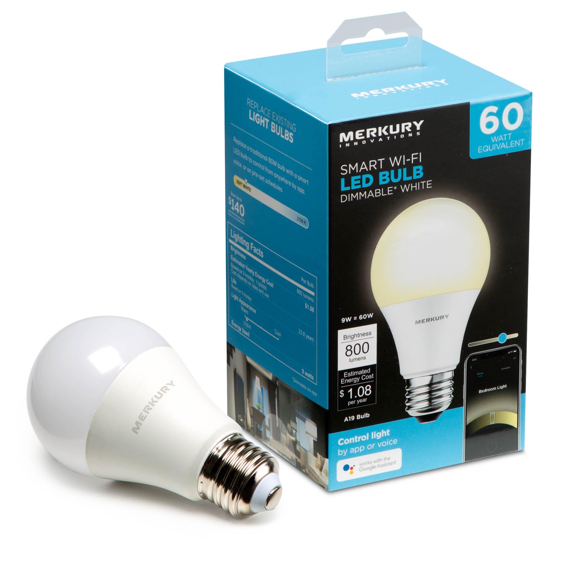 Merkury wifi dimmable bulb @ Walmart $4.97