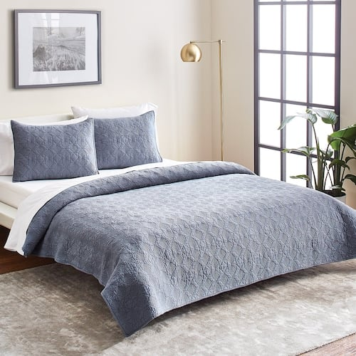 3-Piece Scott Living Diamond Cotton Quilt Set (Queen, 2 colors) + $10 Kohl's Cash $52.80, More + Free Store Pickup at Kohl's or Free S/H on $75