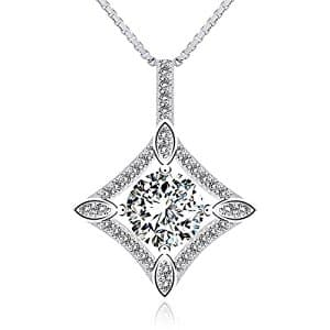 Sterling Silver Zirconi Pendant Necklace only $5.99 on Amazon