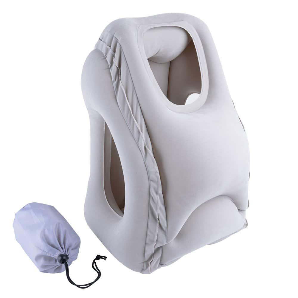 Lumsing Travel Pillow, Airplane Pillow, Neck Pillow, Inflatable Cervical Pillow, Ergonomic and Portable Bed Rest Pillow - after promo code $10.94