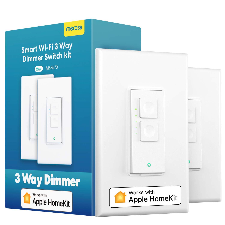 meross 3 Way Smart dimmer Switch Kit - Compatible with Apple HomeKit, Alexa, Google, and SmartThings - $29.11 @ Amazon