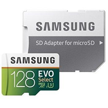 Samsung 128GB MicroSD EVO Select (U3) Memory Card, $34.99 @ Amazon, FSSS eligible.