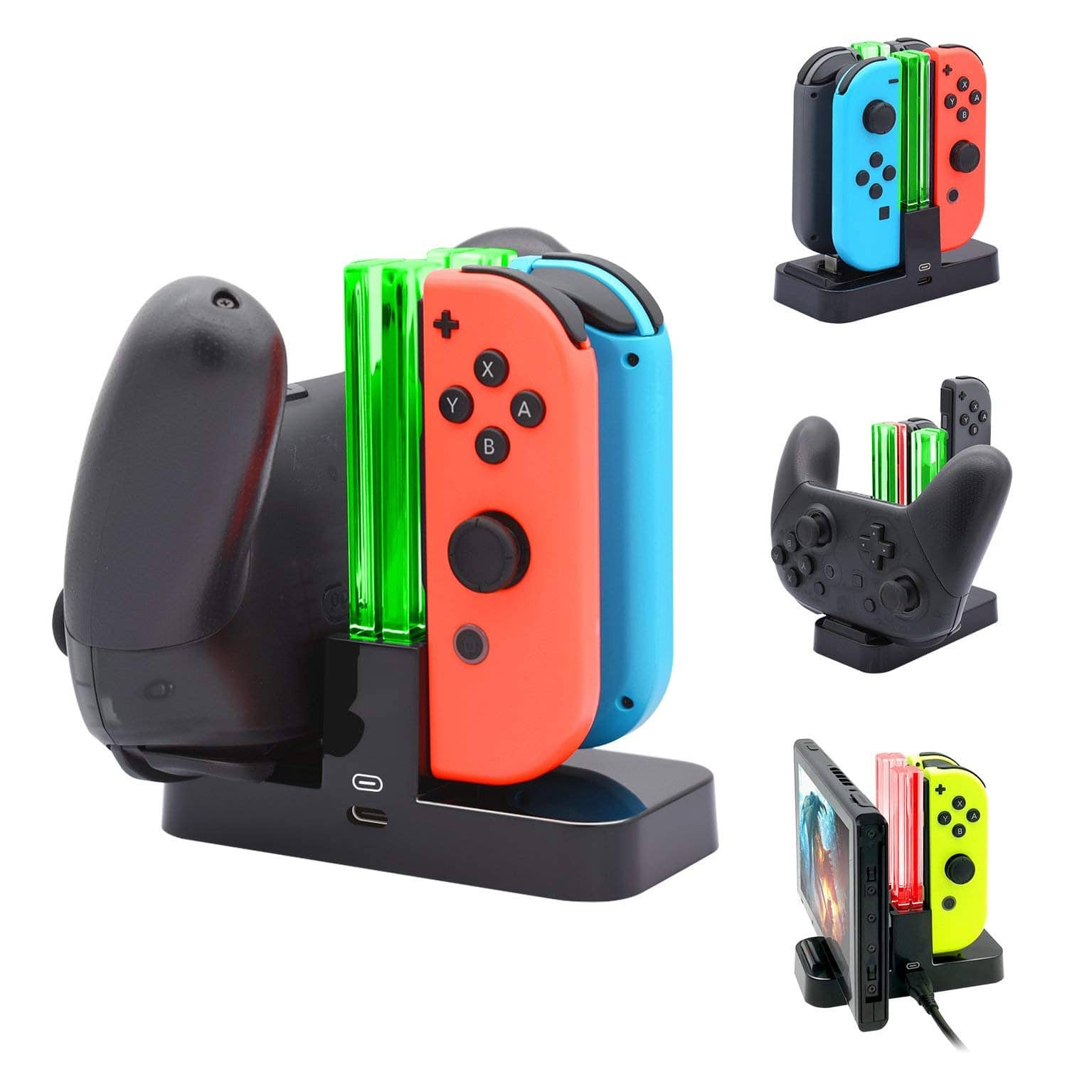 FastSnail Nintendo Switch Joy-Con & Pro Controller Charger