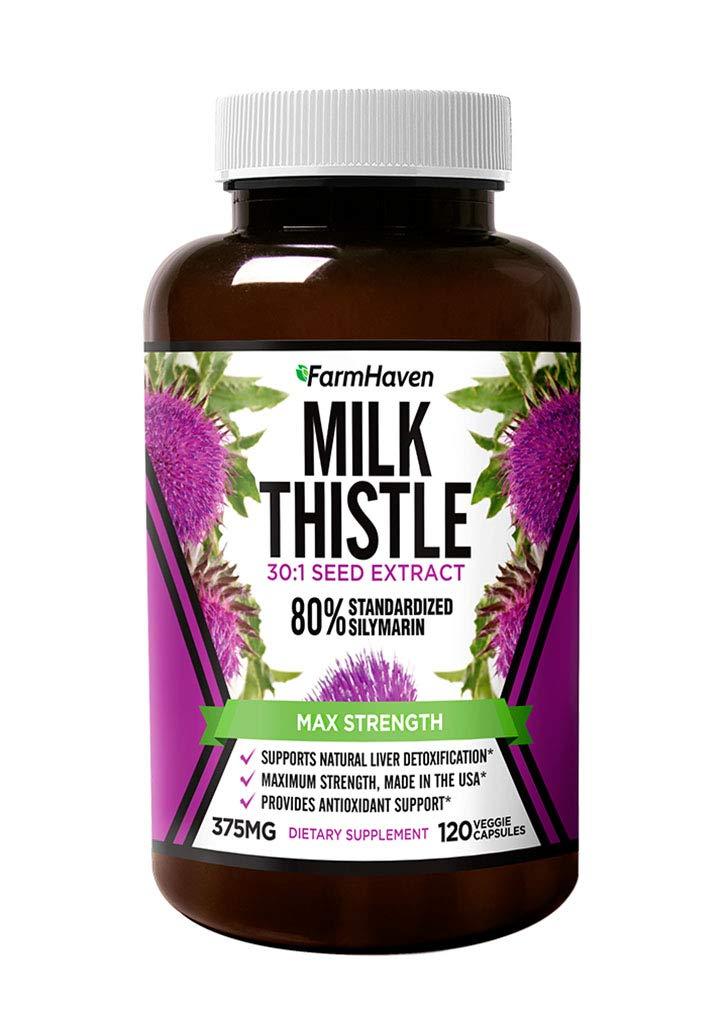 Milk Thistle Capsules | 11250mg Strength | Non-GMO | 120 Veggie Capsules - $14.69 FS w/ Prime