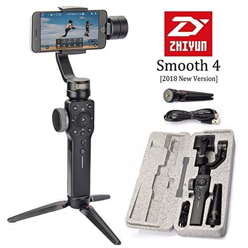 Zhiyun Smooth 4 3-Axis Handheld Smartphone Gimbal Stabilizer, Black - $95.20 FS w/ Prime