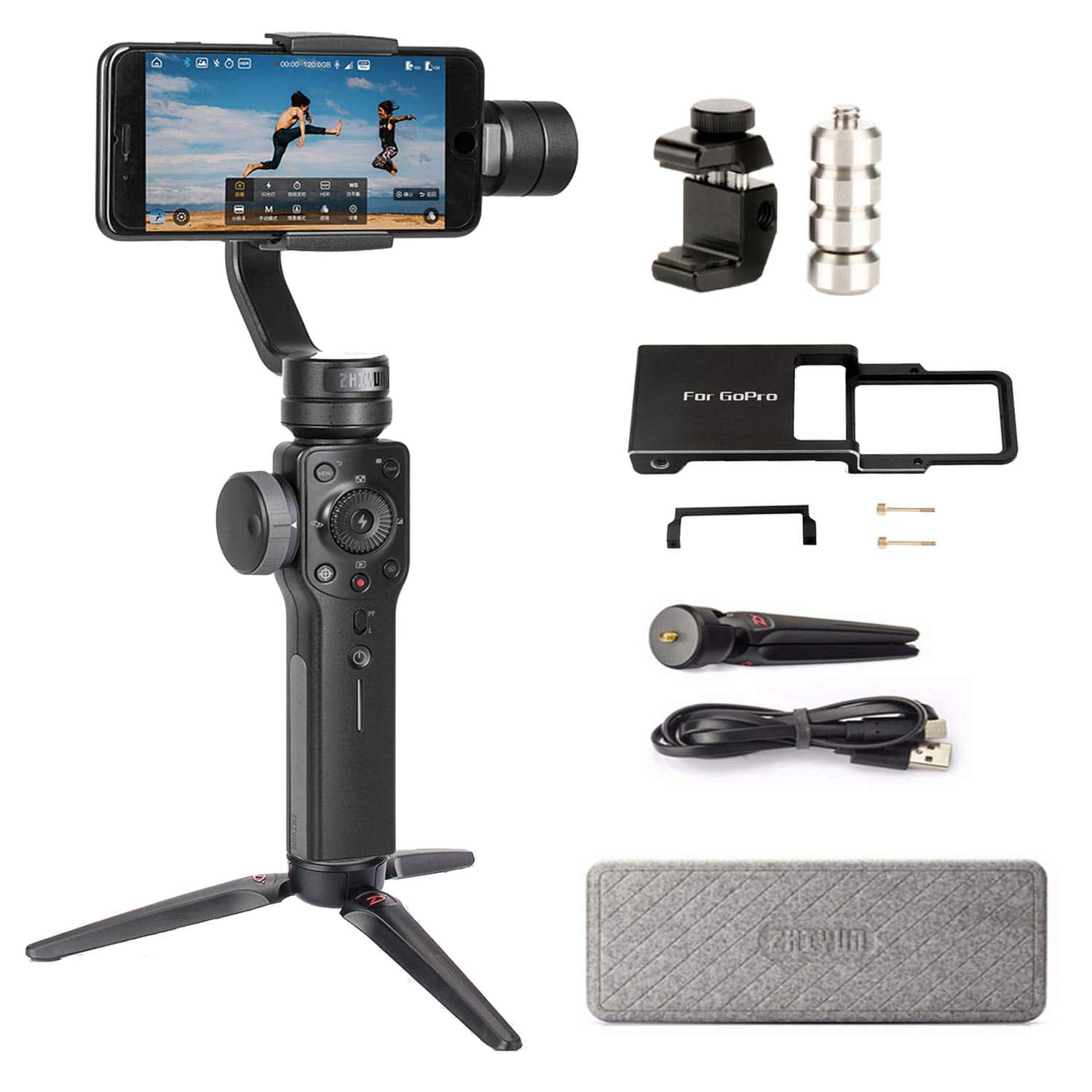 Zhiyun Smooth 4 Handheld Smartphone Gimbal Stabilizer Set for Smartphones - $103.20 AC FS w/ Prime