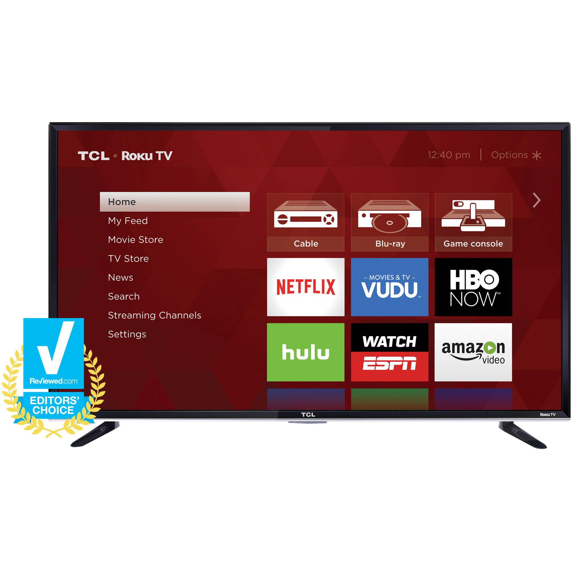 """50"""" 1080p TCL Roku TV $298"""