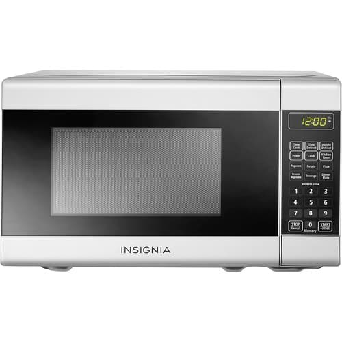 Insignia™ - 0.7 Cu. Ft. Compact Microwave - White $34.99 + fs