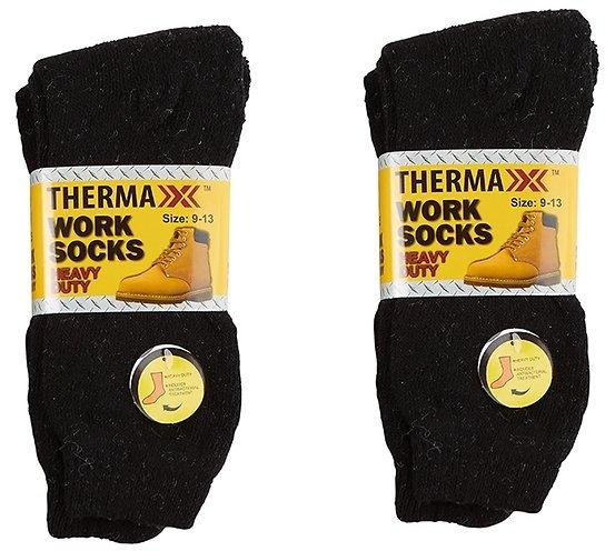 6-Pack Thermaxxx Men's Heavy Duty Work Boot Socks $12.99 + fs
