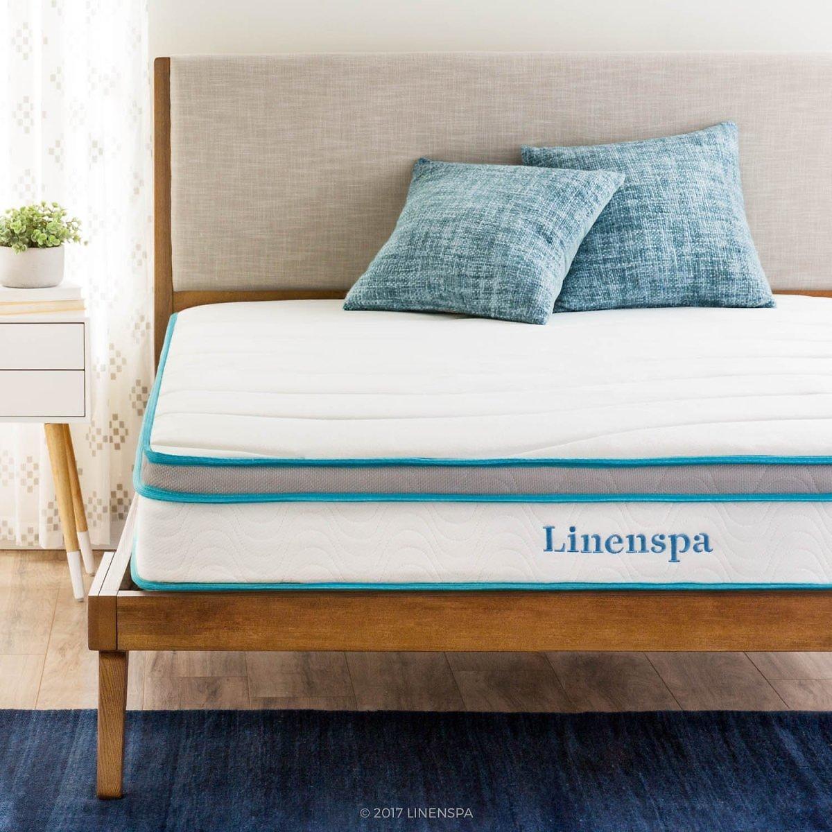 "Prime Day Deal - LinenSpa 8"" Memory Foam and Innerspring Hybrid Mattress, Twin $72.00 + fs"