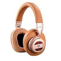 Monoprice SonicSolace Active Noise Cancelling Bluetooth Wireless Headphones, Champagne with Tan Over Ear Headphones $44.76