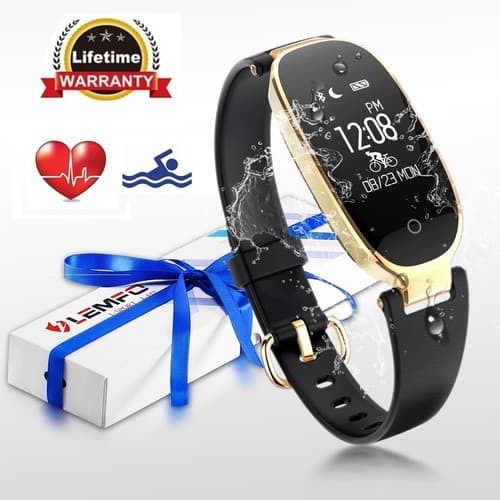 Fitness Tracker,Heart Rate Monitor Women Swimming Waterproof Ladies Activity Tracker Smartband save 30% @amazon $24.49