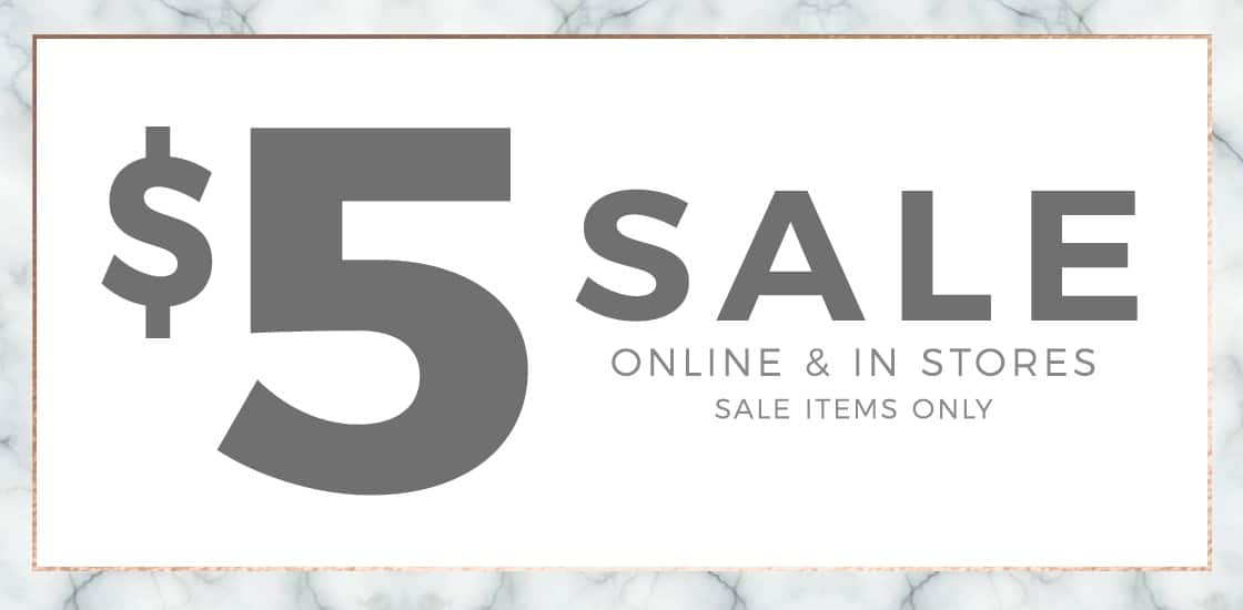 Windsor Store $5 Sale with 5.95 post shipping!