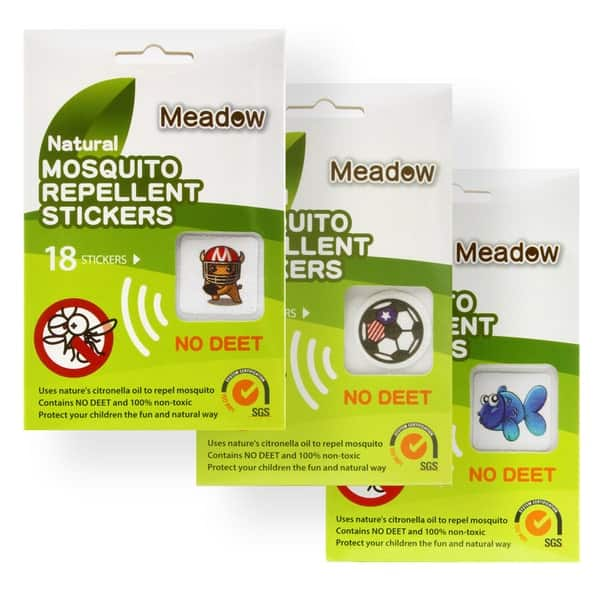 54 Pcs Meadow Natural Citronella Mosquito Repellent Stickers for $7.99 at tanga.com