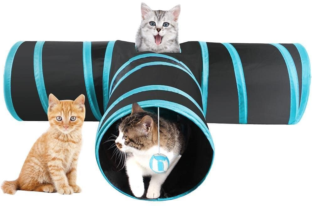 Topeakmart Cat Tunnel Collapsible 3 Way Play Toy Tube Hole $9.59