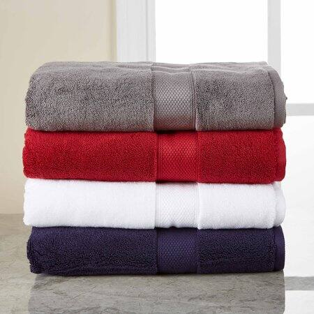 Hotel Style 5 Piece Solid Color Bath Towel Set 9 98 Slickdeals Net
