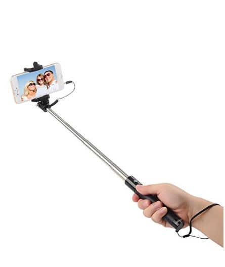 intcrown selfie stick extendable self portrait monopod black 7 7 fs w pri. Black Bedroom Furniture Sets. Home Design Ideas