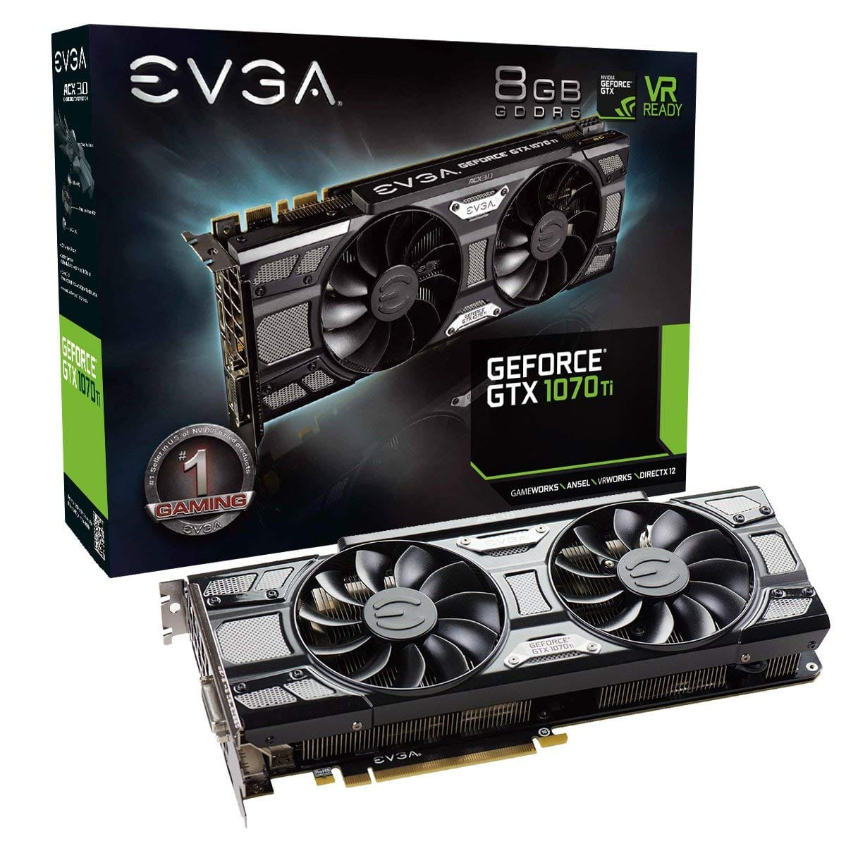 EVGA GeForce GTX 1070 Ti ACX 3.0 Black Edition, 8GB GDDR5 ($100 off) $449.99