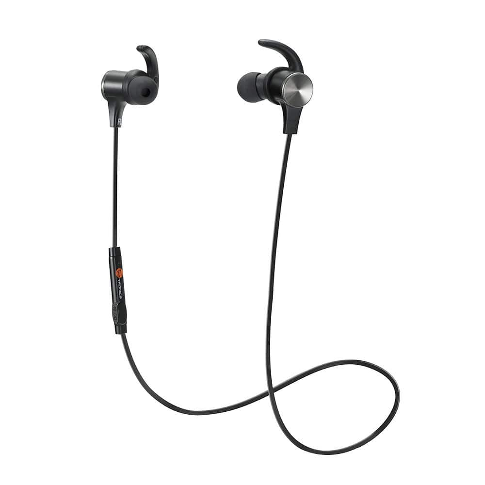 Bluetooth Headphones, TaoTronics Wireless 4.2 Magnetic Earbuds, Snug Fit for Sports with Built in Mic TT-BH07 $11.99