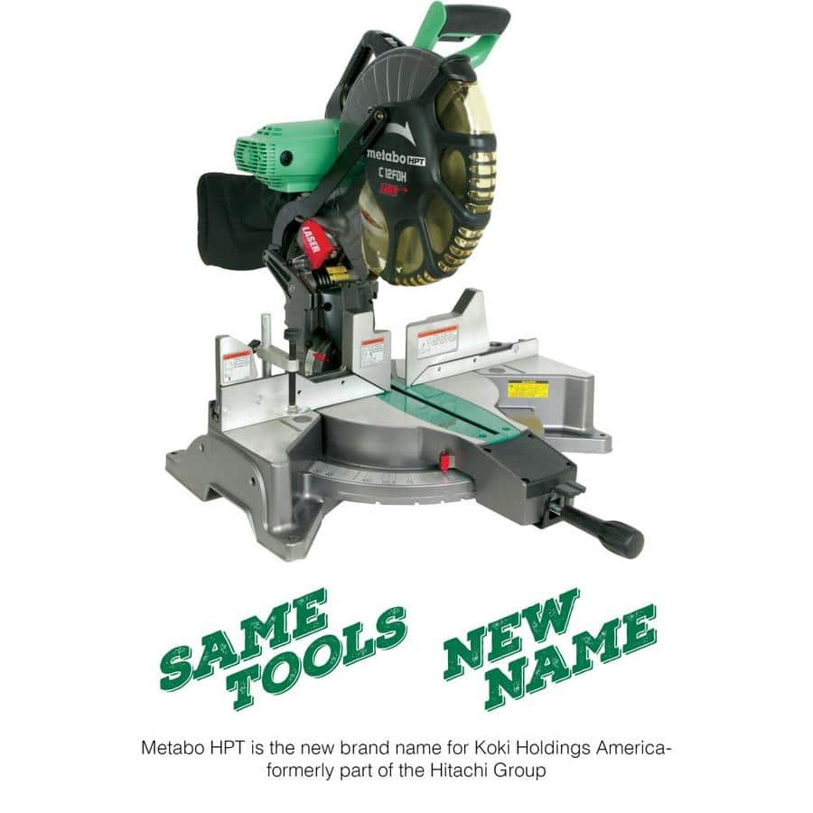 Metabo HPT C12FDH 12-in 15-Amp Dual Bevel Compound Corded Miter Saw - $199 (33% off) at Lowes