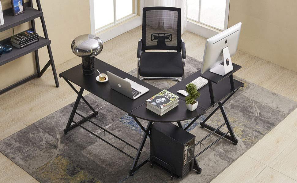 Greenforest L Shaped Desk Office Computer Corner Desk With