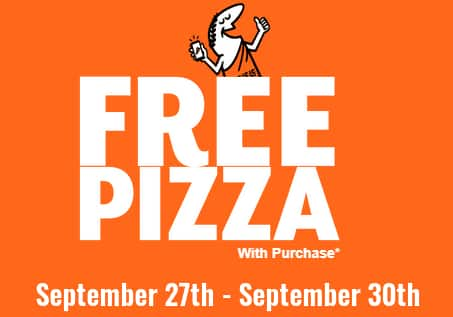 Little Caesars: Sept 28 - 30 : Free pizza in app with purchase of 2+ toppings pizza: FREELCPIZZA2