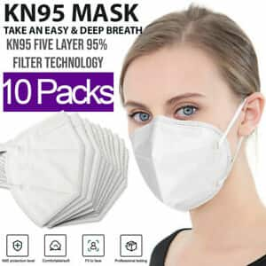 KN95 Protective 5 Layers Face Mask [10 PACK] BFE 95% PM2.5 for less than $5 + FS $4.89