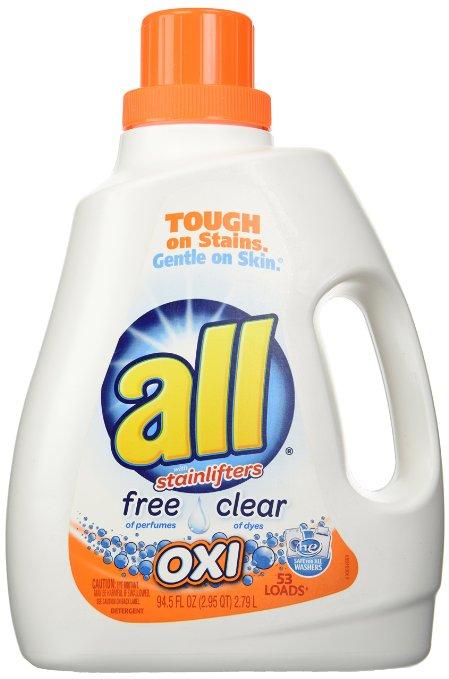 All Ultra Free Clear Oxi Liquid Laundry Detergent (94.5 Oz): $6.64  FS @ Amazon