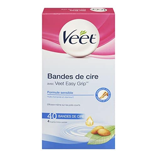 40ct Veet Ready-to-use Wax Strip Kit, Hair Remover for Legs & Body: $3.39 (or less) + FS @ Amazon