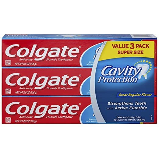 8oz Colgate Cavity Protection Toothpaste with Fluoride: 3-ct for $3.47 Add-On Item @ Amazon