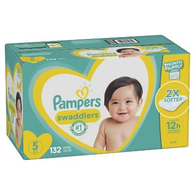 Pampers Swaddlers Diapers, One Month Supply, $31.28 or less + FS w/s&s @ Amazom