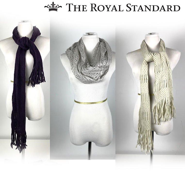 Set of 3 Knit Royal Standard Scarves $12.99 + fs