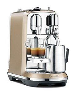 Breville BNE600RCH Nespresso Creatista Espresso and Coffee Maker, Royal Champagne $299.95 + fs