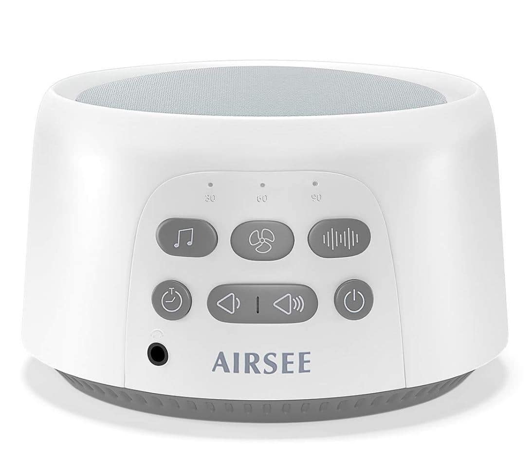 White Noise Machine - Portable Sound Machine with 24 Non-Looping Soothing Sounds for Sleeping $15.98