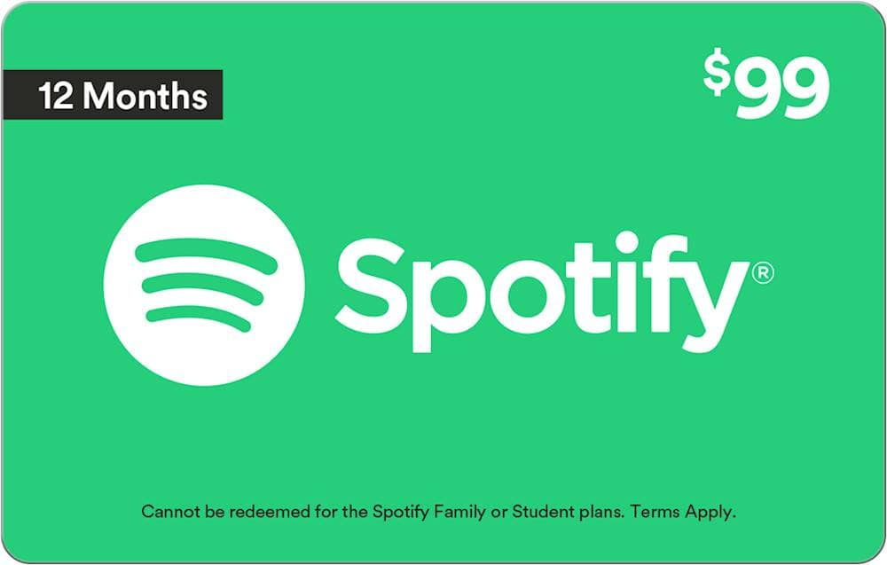 Spotify 1 Year subscription $99