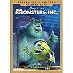 Monsters, Inc. (Three-Disc Collector's Edition: Blu-ray/DVD Combo) $13.99 at Amazon and Target