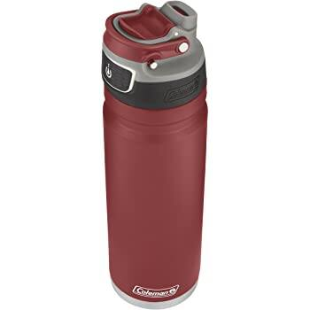 Coleman FreeFlow AUTOSEAL Insulated Stainless Steel Water Bottle RED - $14.65 + Free shipping prime