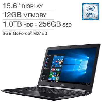 Costco Acer Aspire 5 laptop i7 12GB RAM 1TB+256GB SSD GeForce 2GB MX150 1080p - $699.99 + $14.95 Shipping