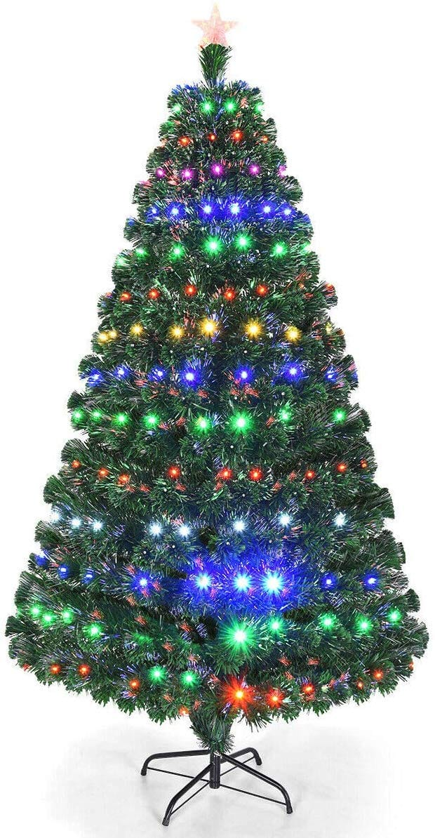 rtificial Christmas Tree Pre-Lit Optical Fiber Tree 8 Flash Modes $77.99