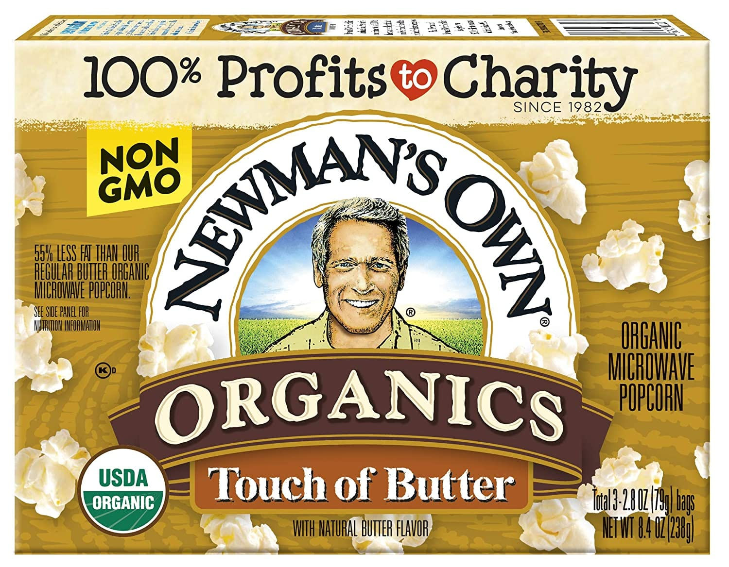 12-Pack 8.4-Oz Newman's Own Organics Microwave Popcorn (Touch of Butter) $12.10 w/ S&S + Free Shipping w/ Prime or on orders over $25