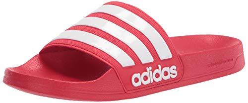 adidas Men's Adilette Shower Slide Sandal (white/red) $13 + Free shipping w/ Prime or on orders over $25