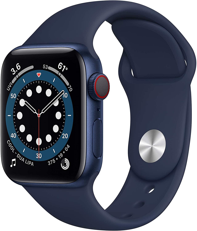 Apple Watch Series 6 40mm GPS + Cellular Smartwatch (Blue Aluminum Case) $370 + Free Shipping