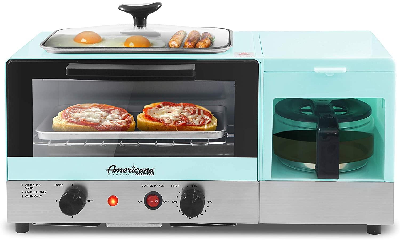 Elite Gourmet 3-in-1 Toaster & Coffee Maker Breakfast Center (Blue) $34 + 6% Slickdeals Cashback + Free Shipping