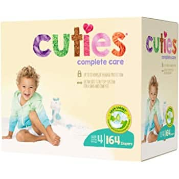 164-Count Cuties Complete Care Baby Diapers (Size 4) $25.85 w/ S&S + Free Shipping w/ Prime or orders $25+