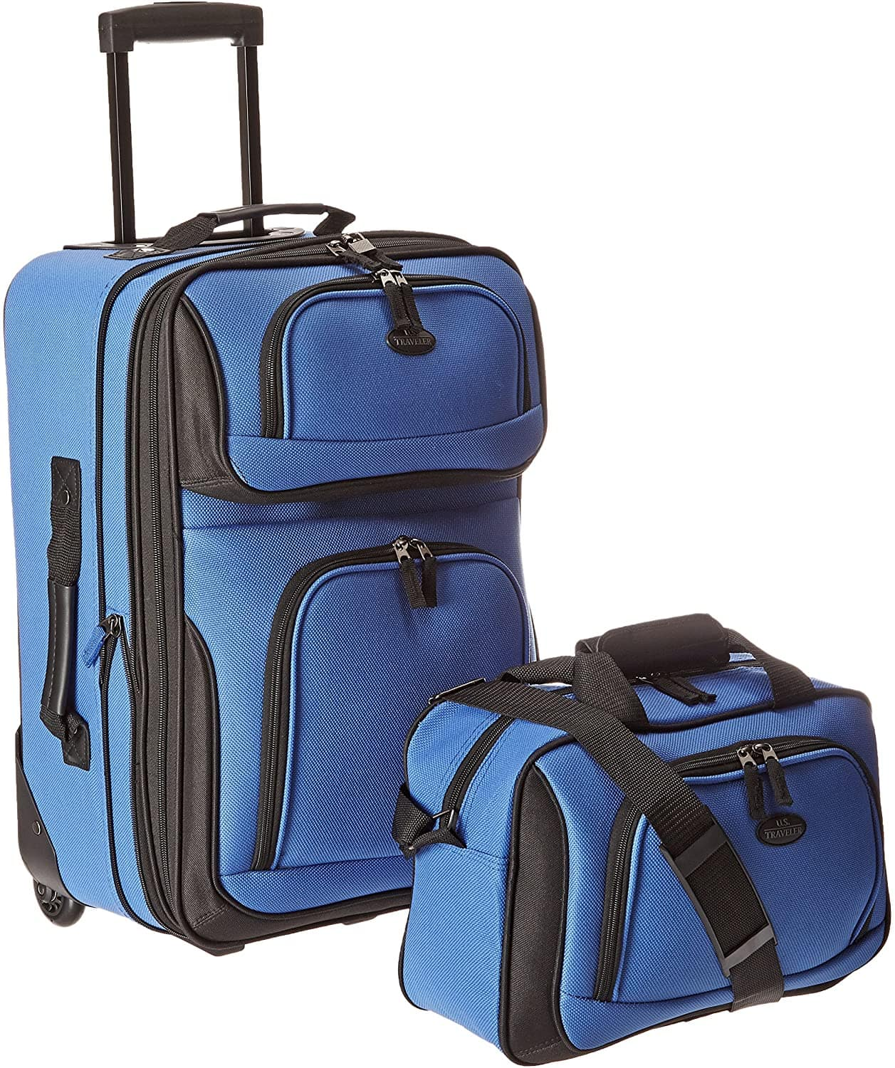 2-Piece U.S. Traveler Rio Expandable Carry-On Luggage Set (Royal Blue) $27.87 + Free Shipping