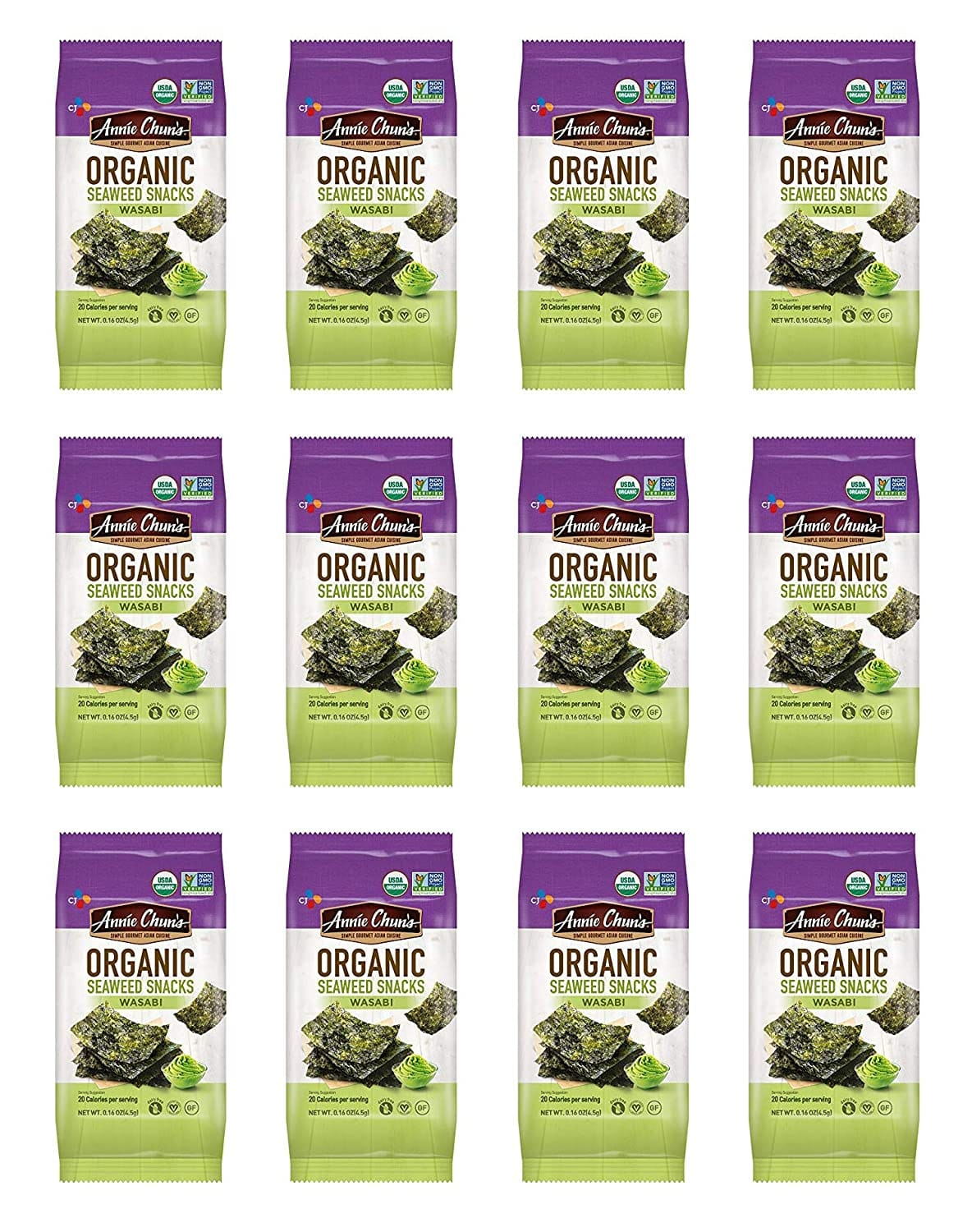 12-Count 0.16-Oz Annie Chun's Organic Seaweed (Wasabi) $5.22 w/ S&S + Free Shipping w/ Prime or on orders $25+.