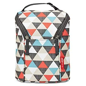 Skip Hop Grab-and-Go Insulated Double Bottle Bag, Triangles @ Amazon add-on item $6.98